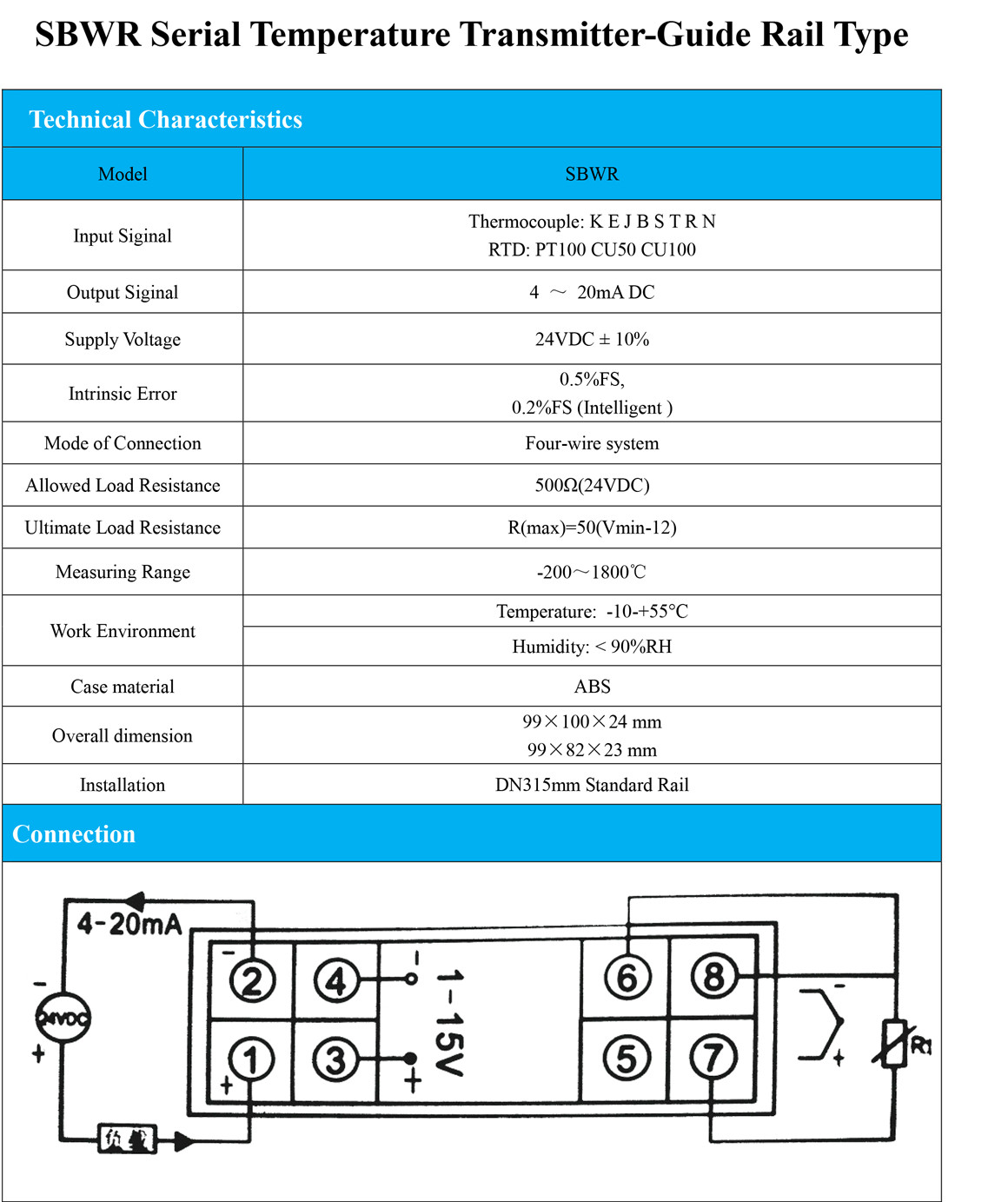 Din Rail Mounting Temperature Transmitters With 4 20ma Output Water Sensor Circuit 420ma Pt100 Buy Note